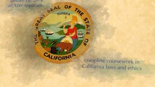Board of Behavioral Sciences- Apply for an Associate Clinical Social Worker Registration in CA.