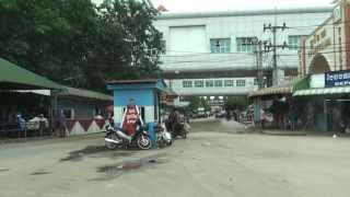 Town of Poipet Border Crossing with Thailand - Western Cambodia
