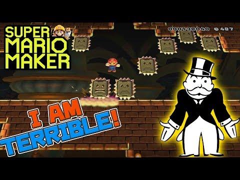 I AM TERRIBLE! - Super Mario Maker - Super Expert with Oshikorosu