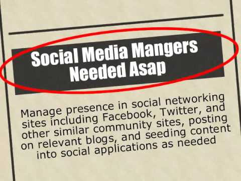Social Media Manager Jobs What you need to know? - YouTube