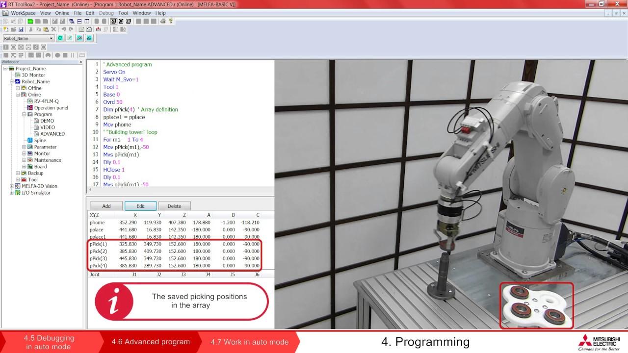 Programming of Mitsubishi Robot /Lesson 1 www