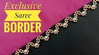 Hand made border/for saree/border making/ exclusive border/ useful & easy
