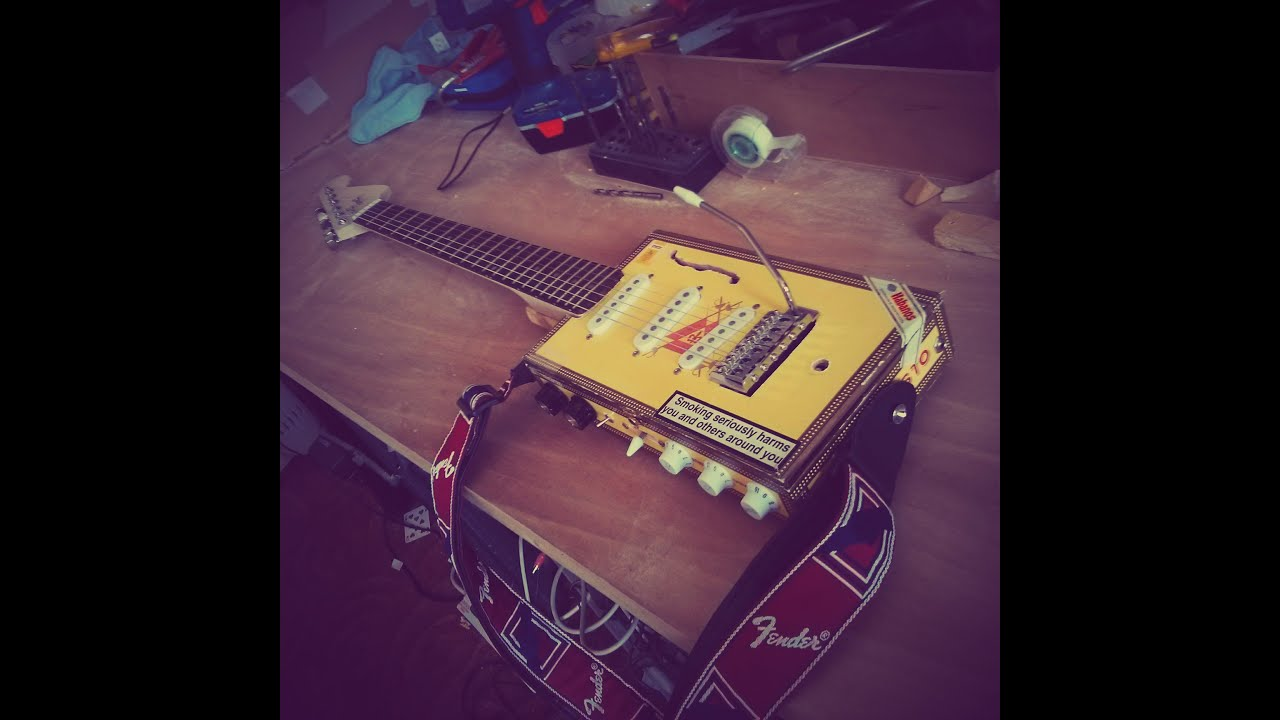 electric cigar box guitar w built in amplifier 9 steps electric cigar box guitar w built in amplifier 9 steps pictures