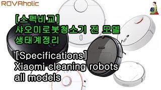샤오미로봇청소기전모델스펙비교,로보락,샤오와생태계/Xia…
