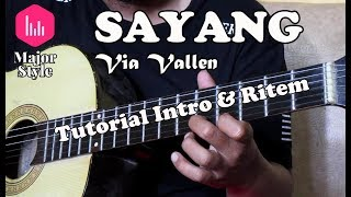 Via Vallen - Sayang | Tutorial Intro & Ritem Major Style