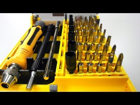 review-screw-drivers-toolkit-for-electronics-diy-(45-piece-set)---dealextreme-dx