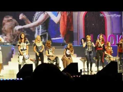 Idols dancing to Gangnam Style