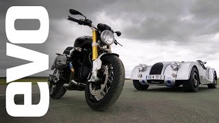 Morgan Plus 8 Speedster v BMW R Nine T | evo CAR v BIKE