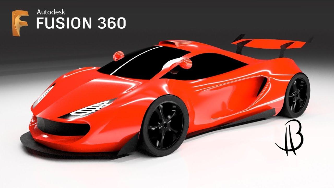 car design speedrun 23 - using autodesk fusion 360 - widebody supercar