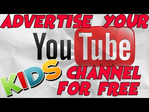 HOW TO ADVERTISE YOUR YOUTUBE CHANNEL FOR FREE! TUTORIAL FOR KIDS - 동영상