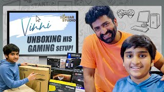 Vinni Unboxing His Gaming Setup.! || Sahithi || Vinni || Sekhar Studio