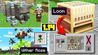 NEW PILLAGER MOBS! WITHER ROSE, New LOOM Block, New Items! (Minecraft 1.14 Snapshot Update)