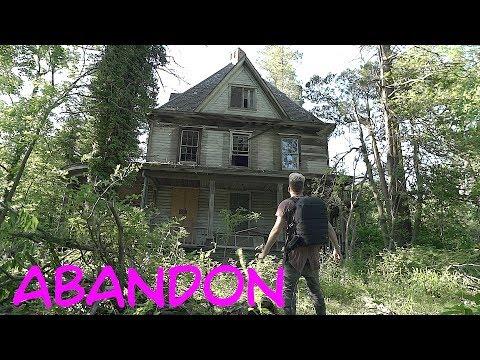 abandoned addams family mansion car graveyard in backyard