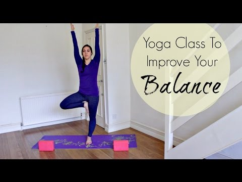 30 Min Yoga for Balance   Full Hatha Yoga Class for Beginners   ChriskaYoga