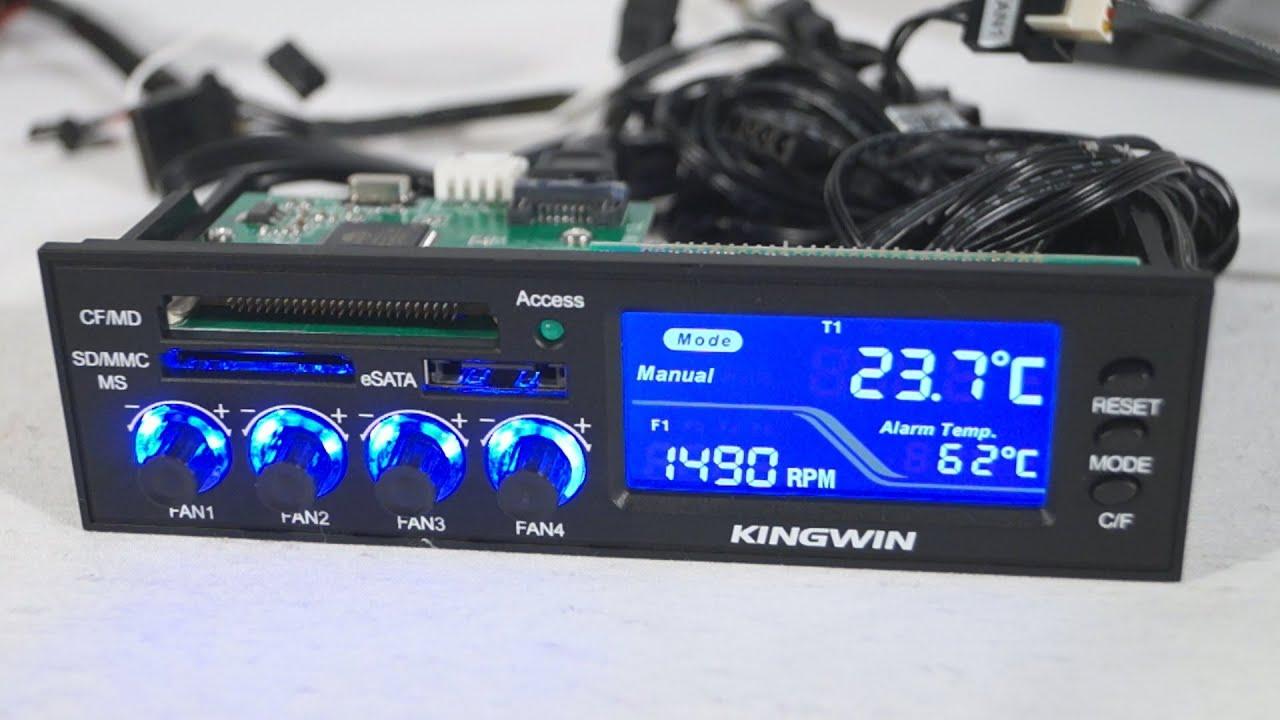 1530 Kingwin Fpx 003 Multi Function Lcd Fan Controller