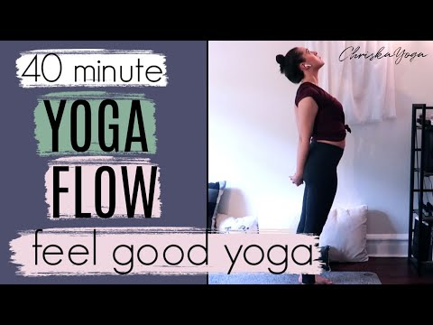 40 Min Feel Good Yoga Class | Full-Length Gentle Yoga Flow Class | ChriskaYoga