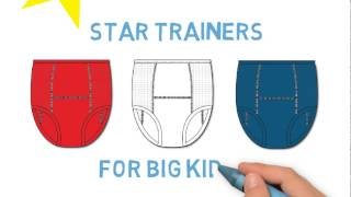 Big Kids Star Training Pants for UnderCareWear