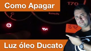 Dr CARRO Luz De óleo Ducato Piscando - Resolva Fácilmente