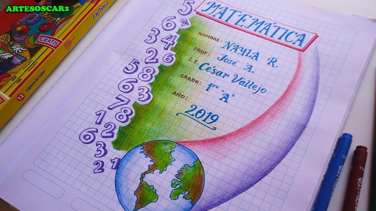 CARATULA PARA MATEMATICA Portadas para cuadernos - YouTube
