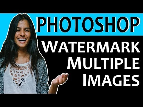 How To Watermark Multiple Images In Photoshop Tutorial