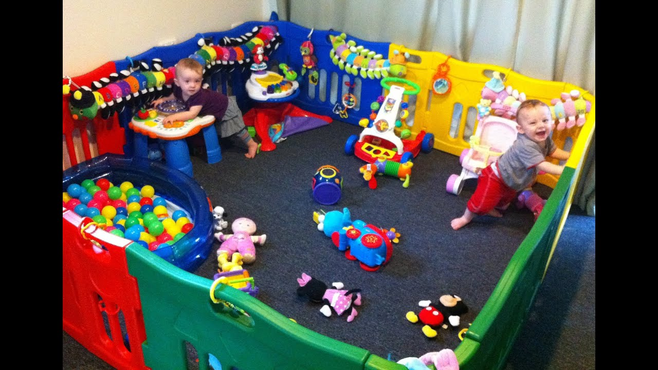 9 Month Old Twins Review Jolly Kidz Playpen (with