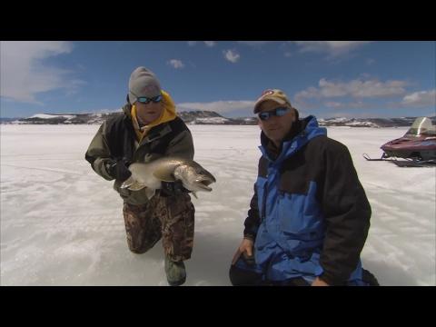 Bernie Keefe Ice Fishing Lake Granby Colorado for Lake Trout