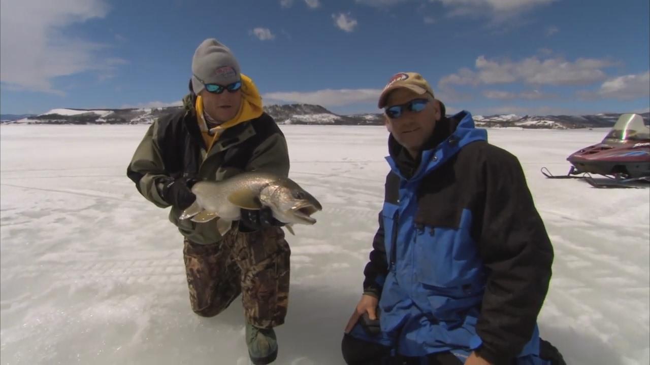 Bernie keefe ice fishing lake granby colorado for lake for Lake granby fishing report