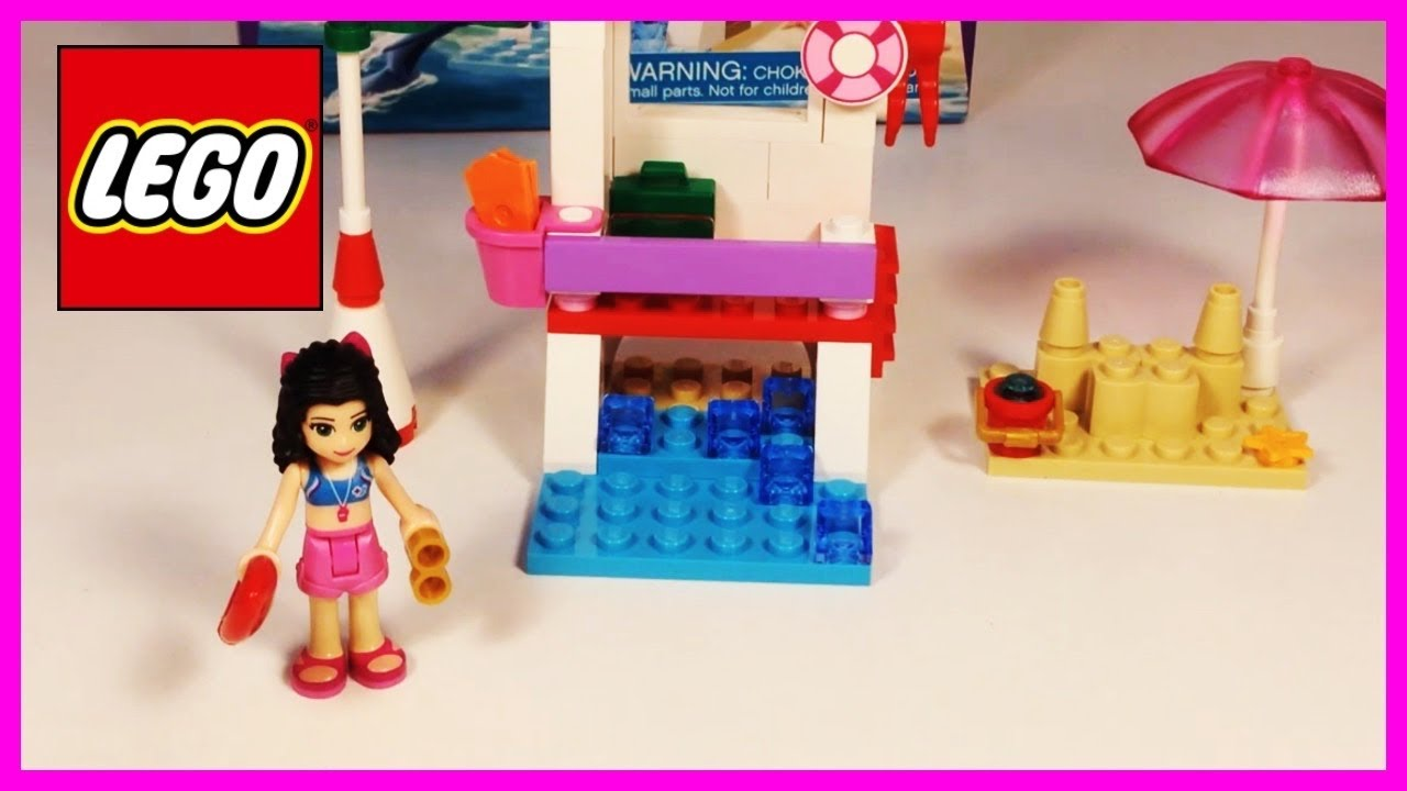 Lego Friends 41028 Emmas Lifeguard Post 2014 Set Youtube