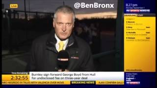 Fan attacks  Sky Sports News Reporter With A Dildo Transfer Deadline Day