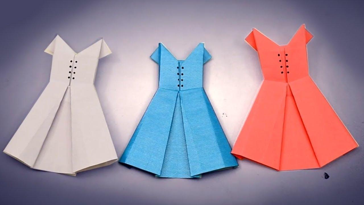 Платье открытка оригами видео, надписями