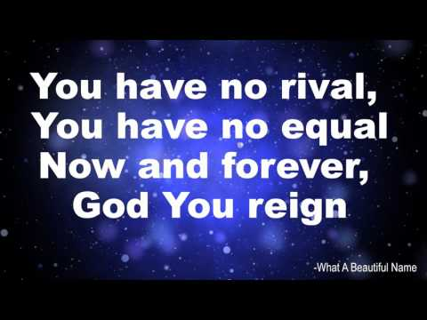 What A Beautiful Name - Hillsong Instrumental with lyrics