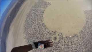 Burning Man Black Rock City 2013 from the sky