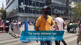 A pesar de que la Ciudad permanece en color naranja en el semáforo Covid, capitalinos retoman sus actividades con normalidad: calles, plazas y centros comerciales lucen llenos