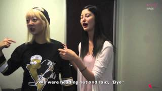 EXID Funny Clip #127- Hyerin and Junghwa Are A Little Bit Famous
