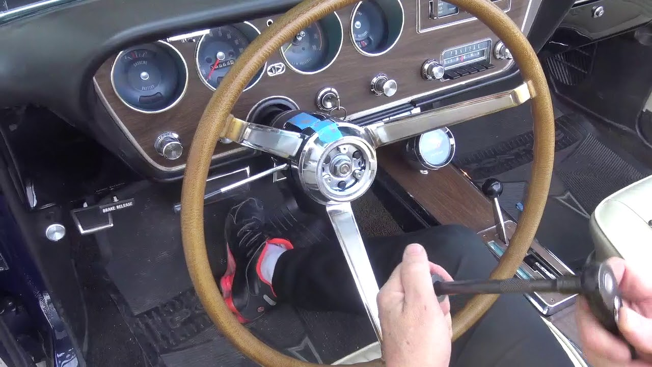 hight resolution of how to remove and install a steering wheel on a 1967 gto