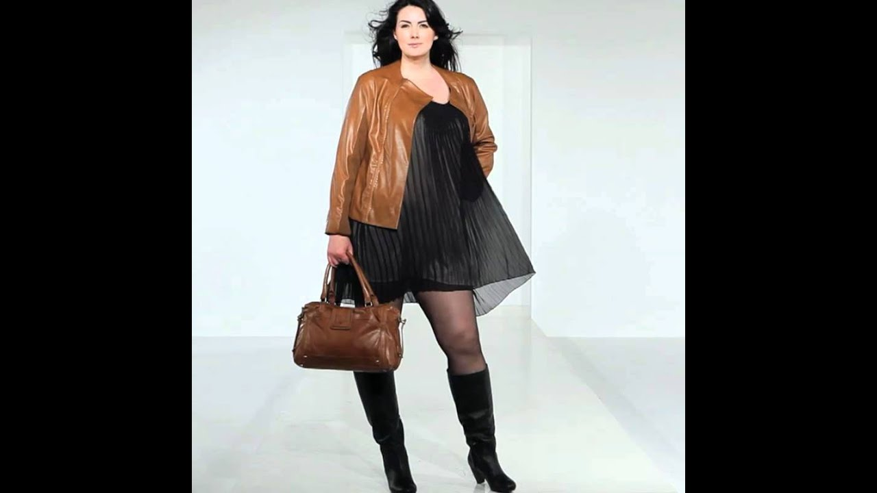 Plus Size Dress With Plus Size Leather Jacket Youtube