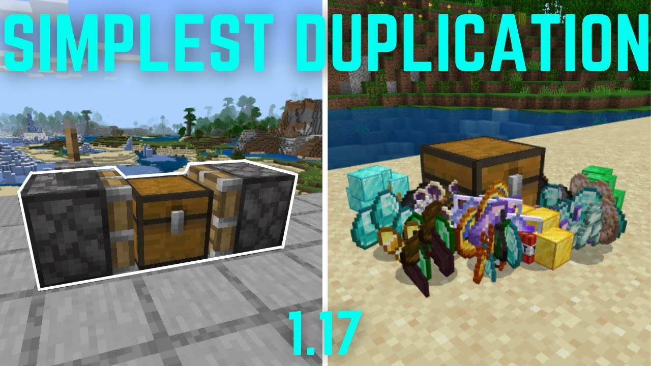 (1.17) Simplest Duplication Glitch of any ITEM | Minecraft Bedrock