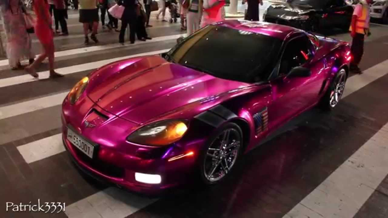 Chrome Pink Corvette C6 With Lsd Doors Usa Design Youtube