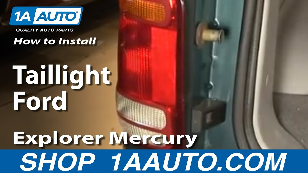 How To Install Replace Taillight Ford Explorer Mercury