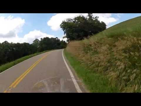 Motorcycle Tour { Ohio's Tail of the Dragon } St Rt 536 Heading North HD