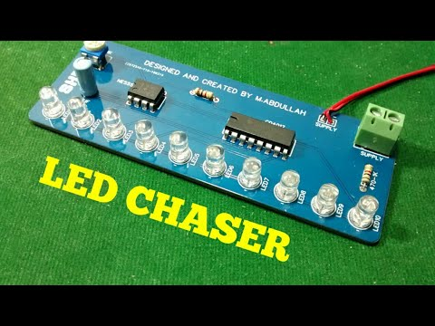 HOW TO MAKE A LED CHASER ON PCB AT HOME , EASY ? - YouTube