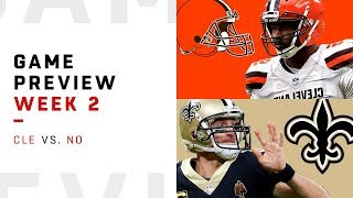 Cleveland Browns vs. New Orleans Saints   Week 2 Game Preview   NFL Film Review