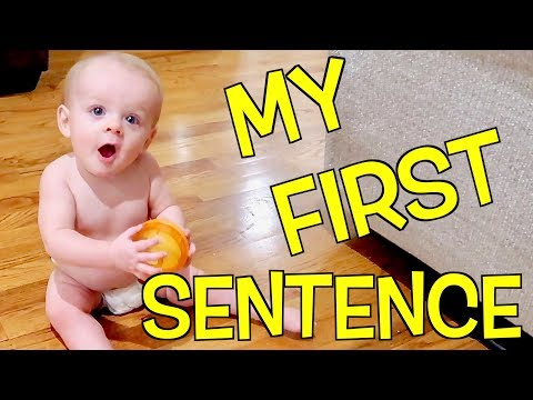 😮10 MONTH OLD'S FIRST SENTENCE!😳