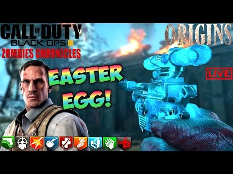 FIRST IN THE WORLD ORIGINS SOLO EASTER EGG COMPLETION BLACK OPS 3 Zombies Chronicles Gameplay