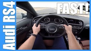 POV Audi RS4 Avant 4.2 V8 FSI B8 FAST! Acceleration Launch Control REV BOUNCING!