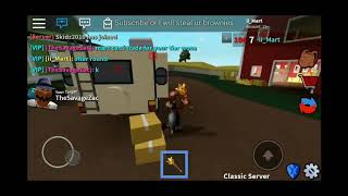 Playing roblox assassin on mobile! (With talking)