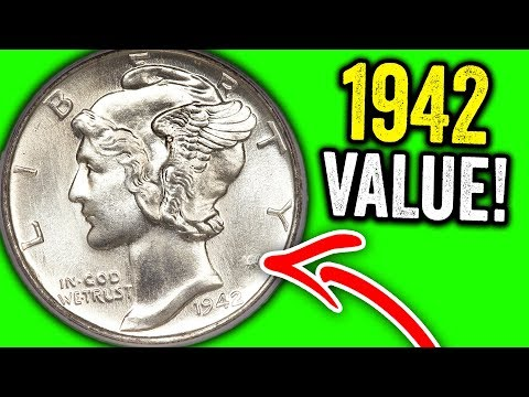 1942 MERCURY DIMES WORTH MONEY - SUPER RARE OLD SILVER COINS TO LOOK FOR