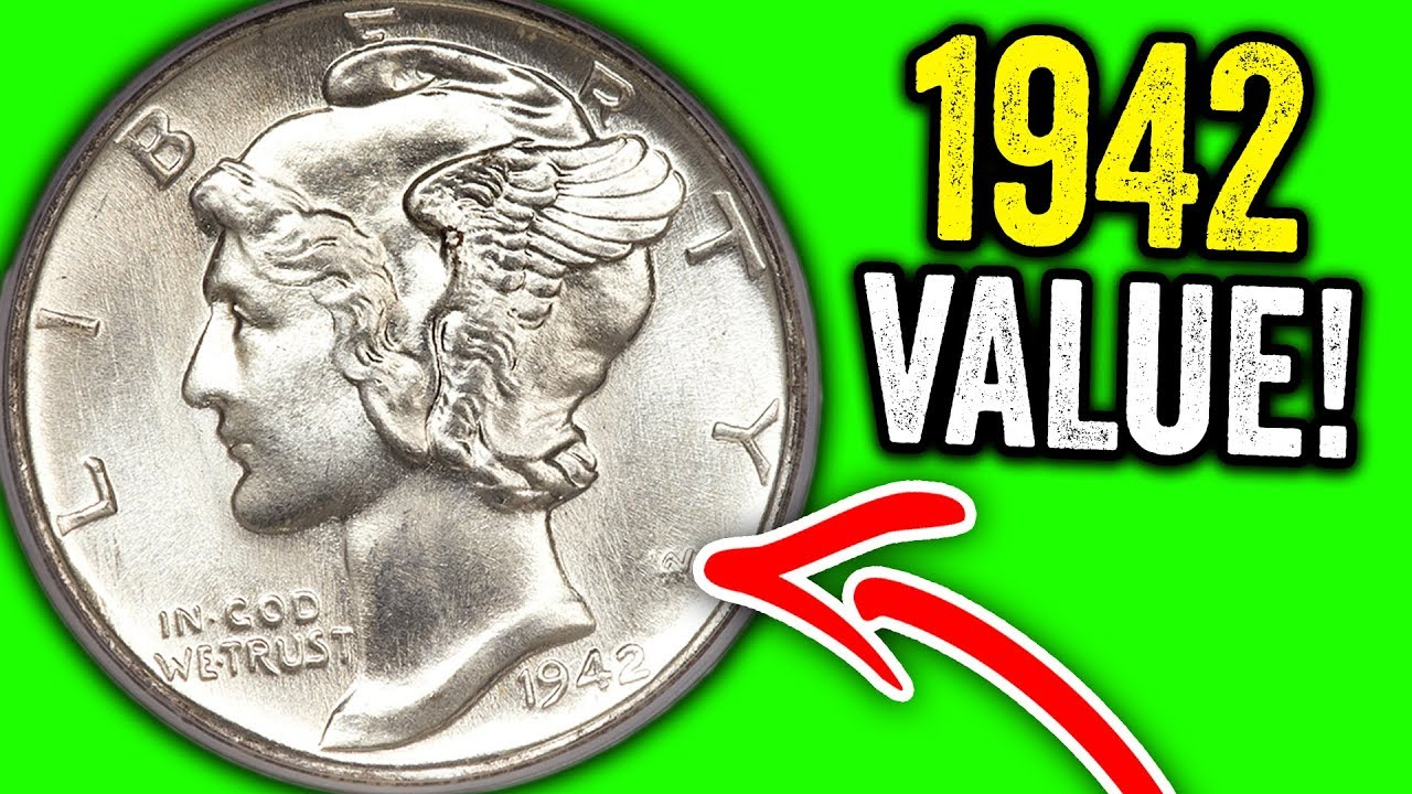 1942 Mercury Dimes Worth Money Super Rare Old Silver Coins To