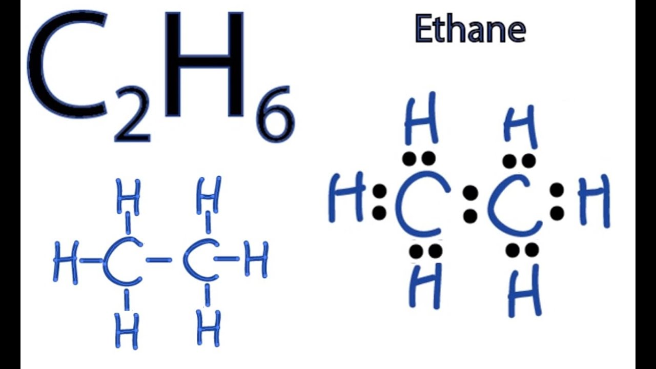 C2H6 Lewis Structure  How to Draw the Dot Structure for