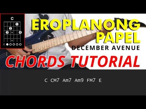 Eroplanong Papel - December Avenue Guitar CHORDS Tutorial